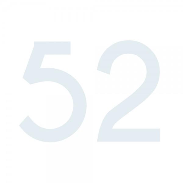 Zahlenaufkleber 52 weiß