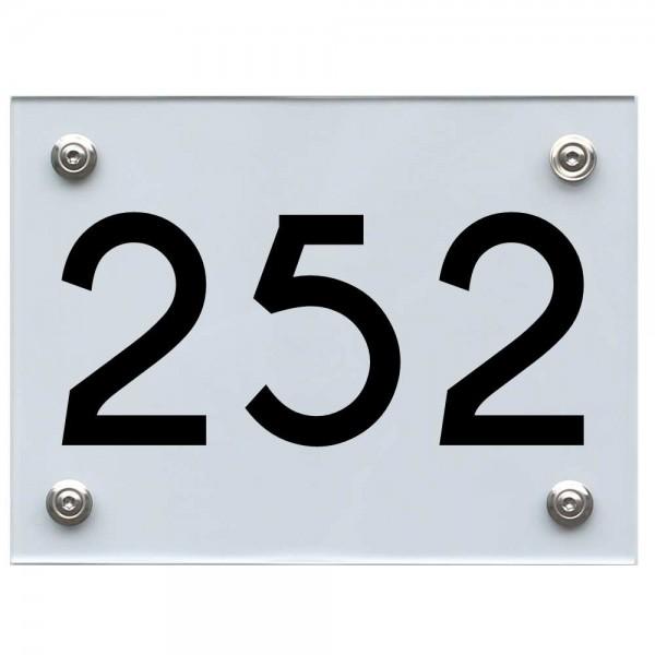 Hausnummernschild 252 schwarz