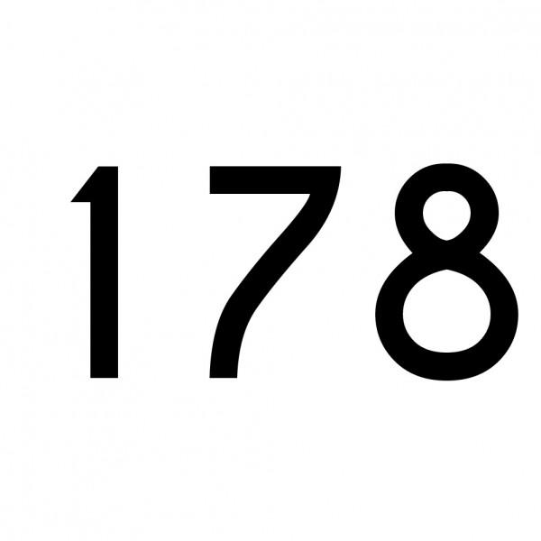 Hausnummer Aufkleber 178 schwarz