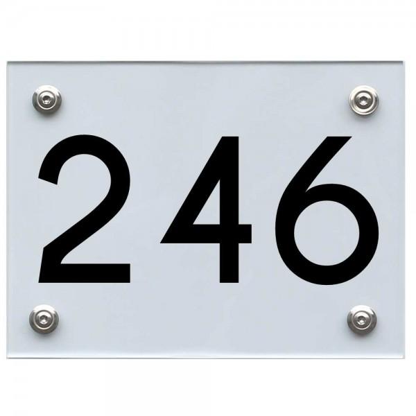 Hausnummernschild 246 schwarz