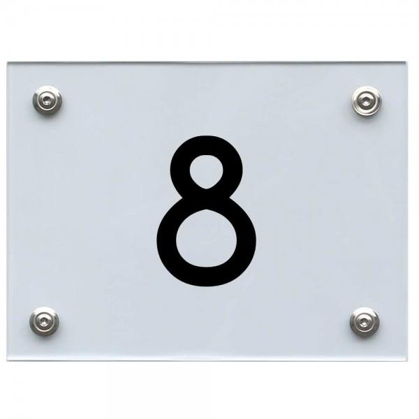 Hausnummernschild 8 schwarz