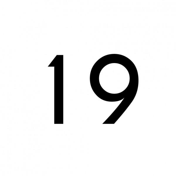 Hausnummer Aufkleber 19 schwarz
