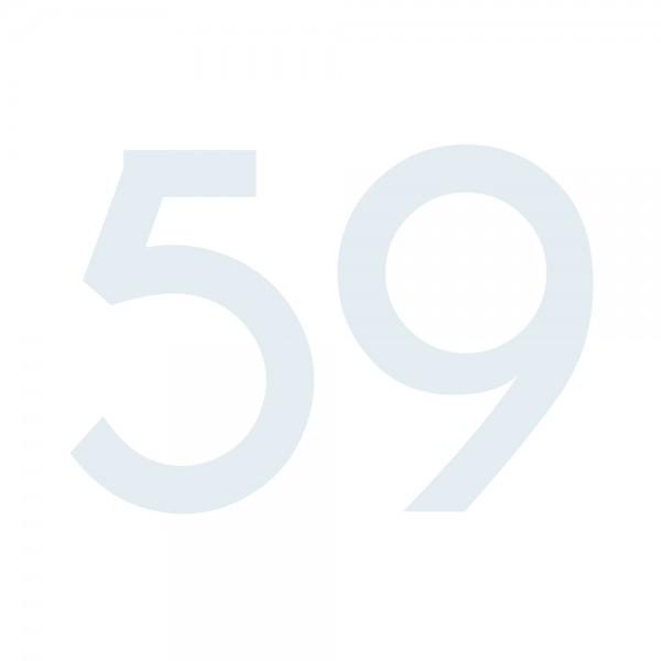 Zahlenaufkleber 59 weiß