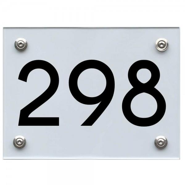Hausnummernschild 298 schwarz