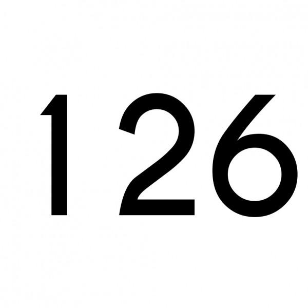 Hausnummer Aufkleber 126 schwarz
