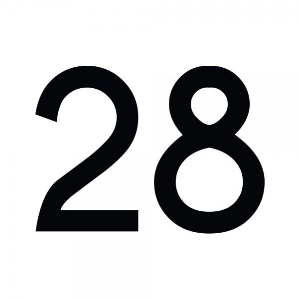 Zahlenaufkleber 28 schwarz