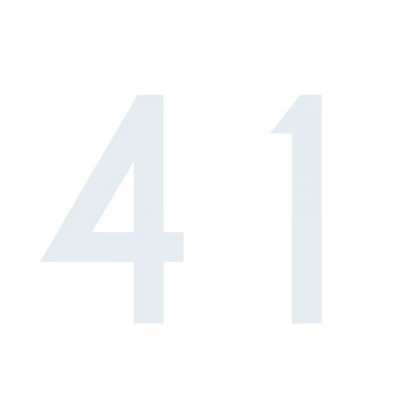 Zahlenaufkleber 41 weiß