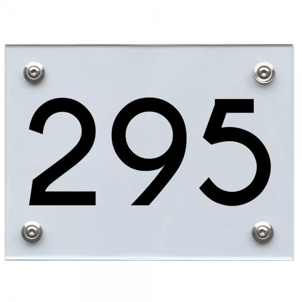 Hausnummernschild 295 schwarz