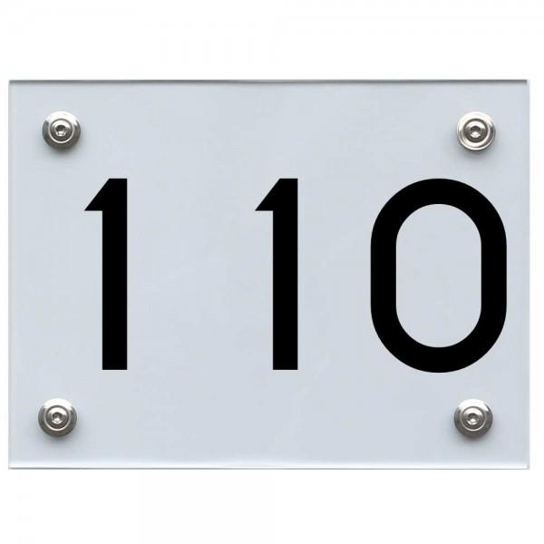 Hausnummernschild 110 schwarz
