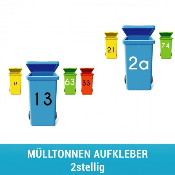 Mülltonnenaufkleber- 2stellig