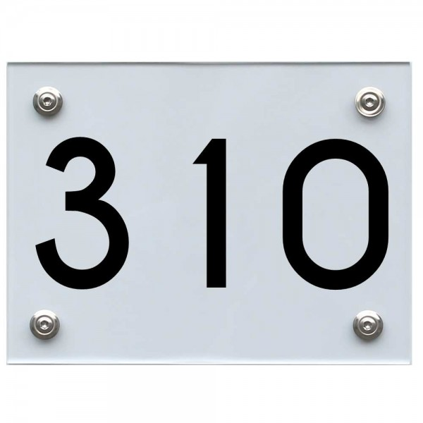 Hausnummernschild 310 schwarz