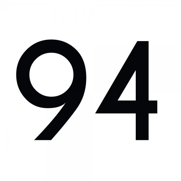 Zahlenaufkleber 94 schwarz