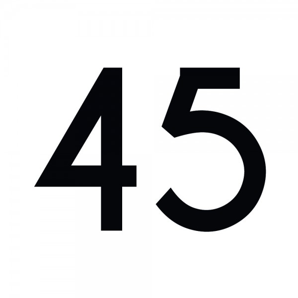 Zahlenaufkleber 45 schwarz