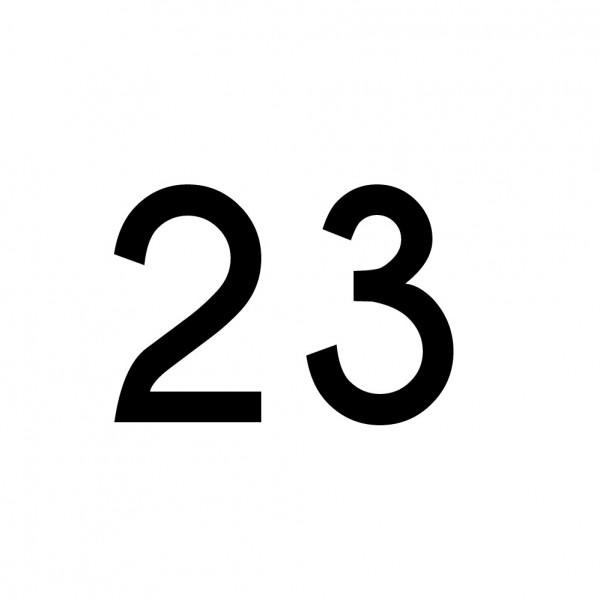 Hausnummer Aufkleber 23 schwarz