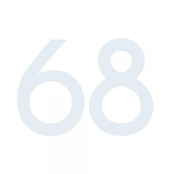 Zahlenaufkleber 68 weiß