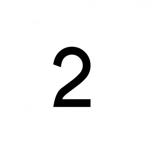 Hausnummer Aufkleber 2 schwarz