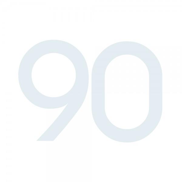 Zahlenaufkleber 90 weiß