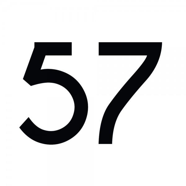 Zahlenaufkleber 57 schwarz