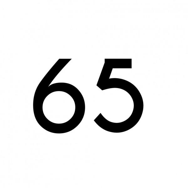 Hausnummer Aufkleber 65 schwarz