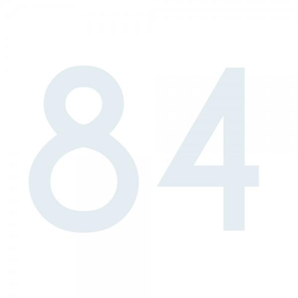Zahlenaufkleber 84 weiß