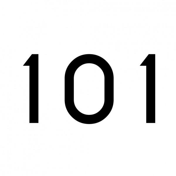 Hausnummer Aufkleber 101 schwarz