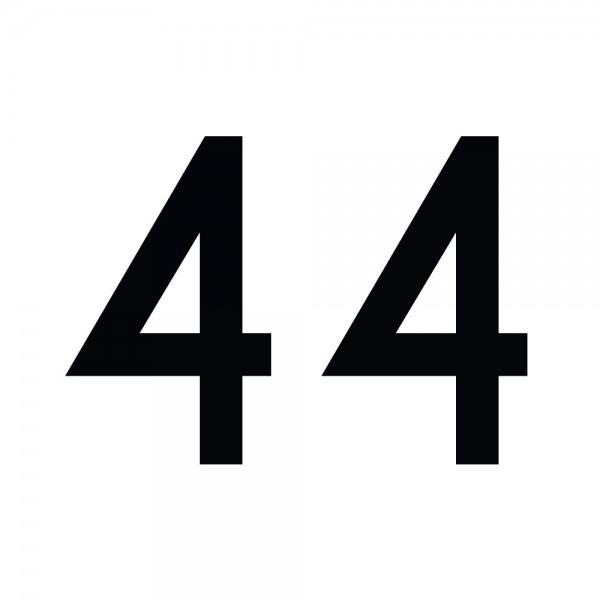 Zahlenaufkleber 44 schwarz