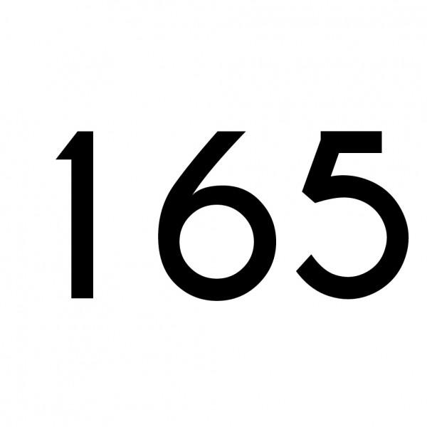 Hausnummer Aufkleber 165 schwarz