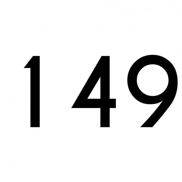 Hausnummer Aufkleber 149 schwarz