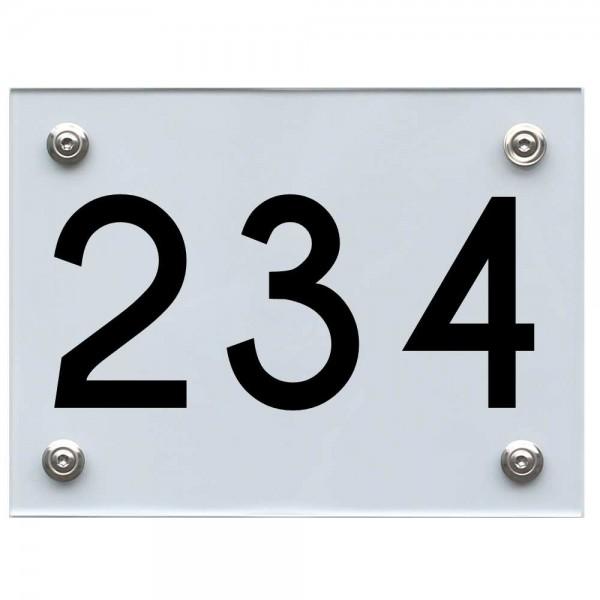 Hausnummernschild 234 schwarz
