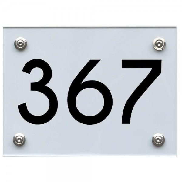 Hausnummernschild 367 schwarz