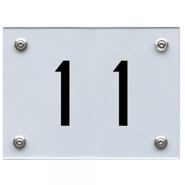 Hausnummernschild 11 schwarz