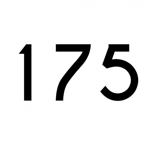 Hausnummer Aufkleber 175 schwarz
