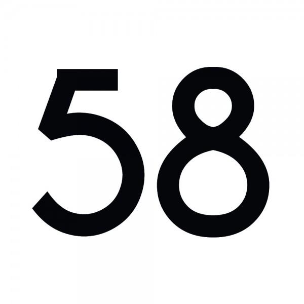 Zahlenaufkleber 58 schwarz