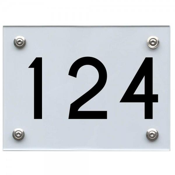 Hausnummernschild 124 schwarz