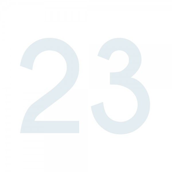 Zahlenaufkleber 23 weiß