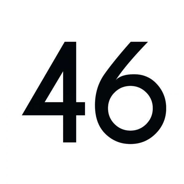 Zahlenaufkleber 46 schwarz