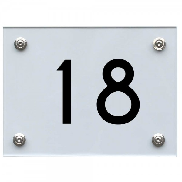 Hausnummernschild 18 schwarz