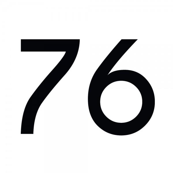 Zahlenaufkleber 76 schwarz