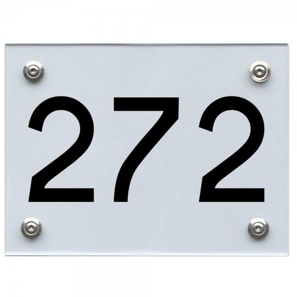 Hausnummernschild 272 schwarz