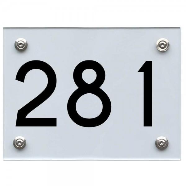 Hausnummernschild 281 schwarz
