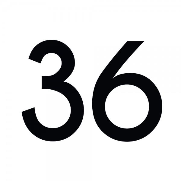 Zahlenaufkleber 36 schwarz