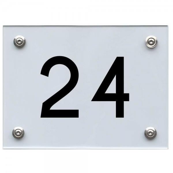 Hausnummernschild 24 schwarz