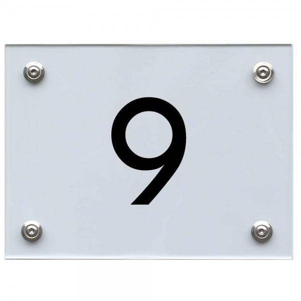 Hausnummernschild 9 schwarz