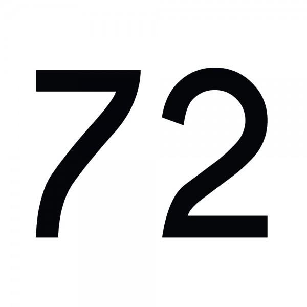 Zahlenaufkleber 72 schwarz
