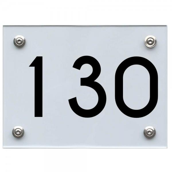 Hausnummernschild 130 schwarz