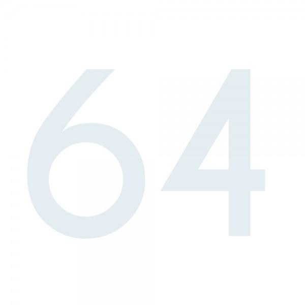 Zahlenaufkleber 64 weiß