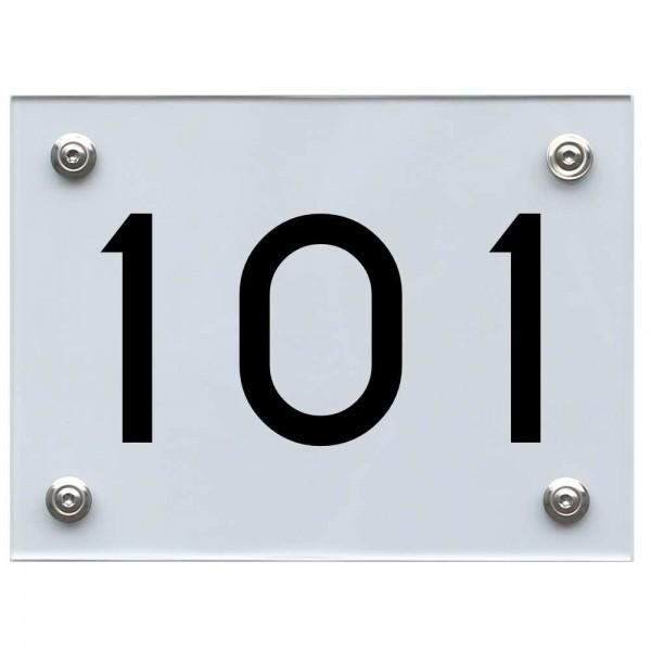 Hausnummernschild 101 schwarz