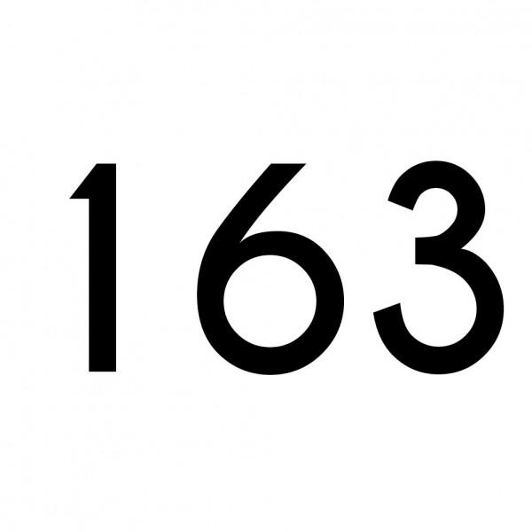 Hausnummer Aufkleber 163 schwarz