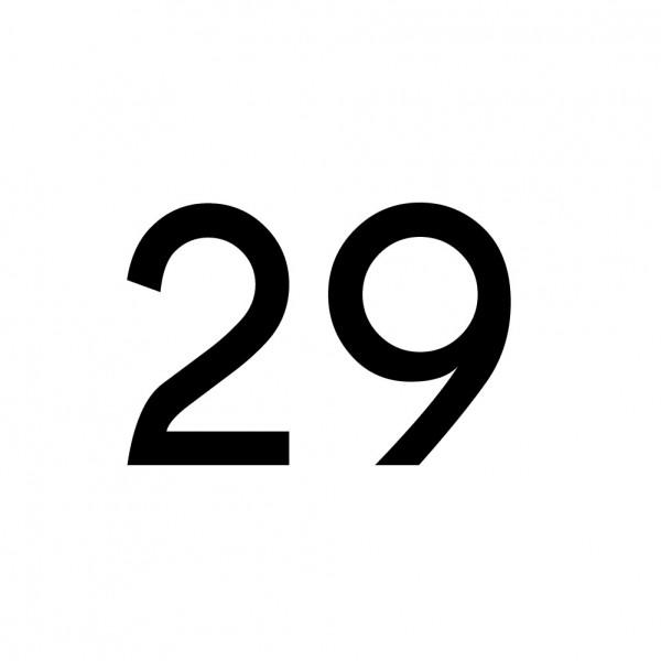 Hausnummer Aufkleber 29 schwarz