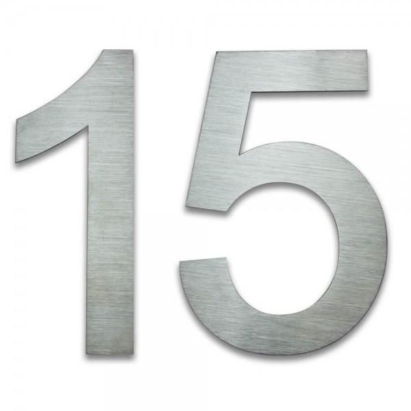 Hausnummer Edelstahl 15